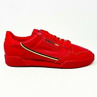 Adidas Continental 80 Scarlet Red Gold Black Mens Size Sneakers EE4144