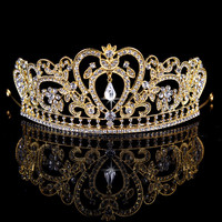 King crown Bridal Tiaras Crowns Crystal Rhinestone Queen diadema Bridal Wedding Accessories Headpiece Headband Wedding Tiara