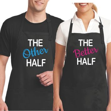 Husband and Wife Matching Couples Aprons