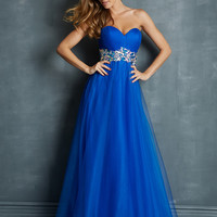 Sweetheart With Jewel Waistline Formal Prom Dress Night Moves 7052