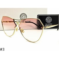 Samplefine2 Versace 2018 new men and women fashion wild sunglasses metal frame color film glasses F-AJIN-BCYJSH #3
