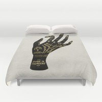 Palmistry Duvet Cover by Cat Coquillette