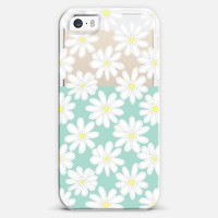 Bright Daisies on Mint & Transparent iPhone 5s case by Micklyn Le Feuvre   Casetagram