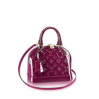 Louis Vuitton Monogram Vernis Leather ALMA BB Cross-Body Carry Handbag Article: M50565 Magenta