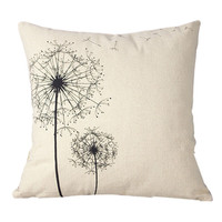 Rushed Sale 2016 Hot Sale pillows case Cotton Linen Square Home Decorative Throw Pillow Case Cushion Dandelion bed linen
