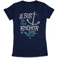 Jesus is The Anchor Junior Christian T-Shirt