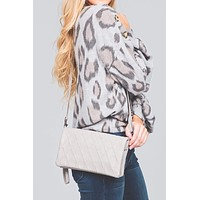 Lia Quilted Fold-Over Crossbody Bag