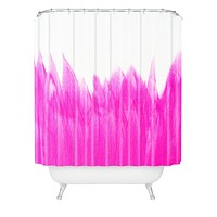 Allyson Johnson Pink Brushed Shower Curtain