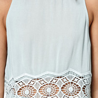 Kendall and Kylie Mock Neck Keyhole Tank Top at PacSun.com