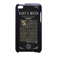 Game Of Thrones Nights Watch iPod Touch 4th Generation Case