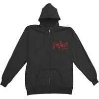 Dying Fetus Men's  Monster Zippered Hooded Sweatshirt Black
