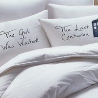 Doctor Who inspired pillowcase set, the girl who waited, the last centurian,  pillowcase, , pillowcases, doctor who gift