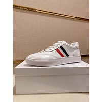 THOM BROWNE  Men Fashion Boots fashionable Casual leather Breathable Sneakers Running Shoes