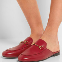 Gucci - Princetown horsebit-detailed leather slippers