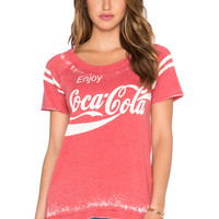 Chaser Enjoy Coca Cola Tee in Red