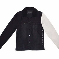 Dream Chaser Frosted Black Denim Jacket
