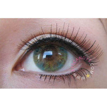 NEO LUCKY CLOVER GREEN EyeCandy's Circle Lens Cosmetic Big Eye Colored Contacts Lenses