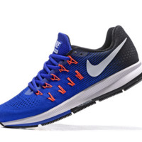 NIKE fashion casual breathable running shoes Sapphire blue orange