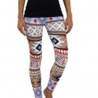 Multi Color Tribal Print Leggings