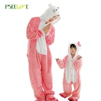 Adult Unicorn Onesuit pajamas All in One Flannel Anime Pijama Girl boy Cosplay Warm Sleepwear Hooded Homewear Women Animal Pajama