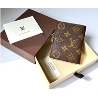 LV Louis Vuitton Button Wallet Brown B-MYJSY-BB