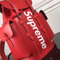 cc DCCK2 LV x Supreme Backpack red