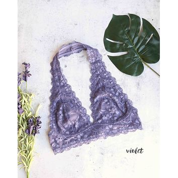 Free People - Intimately FP - Galloon Lace Halter Bralette in More Colors