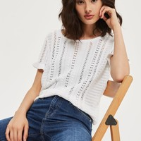 PETITE Stitchy Knitted T-Shirt | Topshop