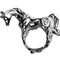 THE SILVER UNICORN by rabidfox by Fleathers on Etsy