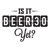 Beer Thirty wall decal