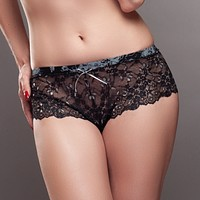 Lavinia Mystic Winter Black Sheer Lace Hipster Panty