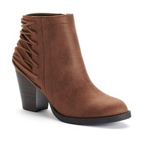 Candie's® Women's Laced-Back Ankle Boots