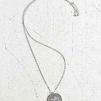 Eye Of The Triangle Pendant Necklace- Silver One