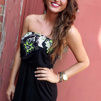 Sequin Aztec Tube Dress