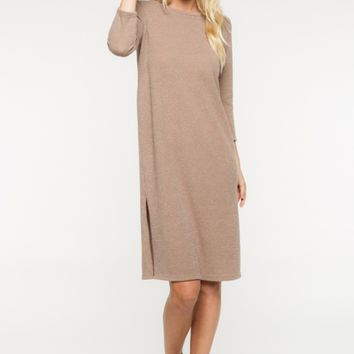 Taupe Midi Knit Dress