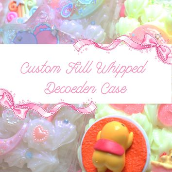 Kawaii Pastel Custom Full Whipped Decoden Cases FOR GALAXY ONLY- Lyssa's Miniatures
