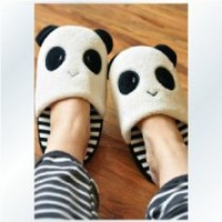 Coxeer Womens Slippers Warm Cute Panda Girls Slippers House Slippers for Winter