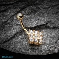 Golden Sparkle Overload Belly Button Ring