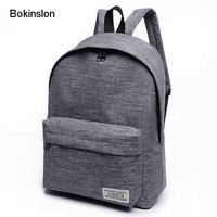 New 2017 Women Backpack Man Popular Solid Color Backpack For Woman School Bag College Wind Small Fresh Fashion Men Backpack