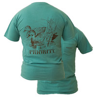 Southern Couture High Priority Wood Duck Country Pocket Unisex Bright T Shirt