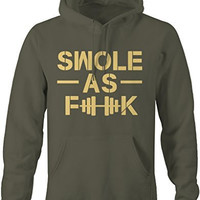 Shirts By Sarah Men's Funny Swole As F**K Workout Lightweight Hoodie Gym Sweatshirt