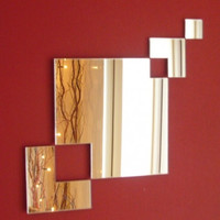 Square Chain Mirror overall size 55cm by AcrylicCoolCreations