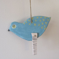 BluE    BiRd---------- Ceramic Marionette