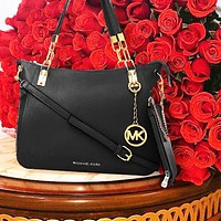 MK Bag Michael Kors Bag New printed  women's shopping bag Two Piece Crossbody Bag Two  Piece Black
