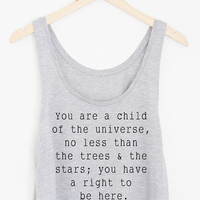 Child of the Universe Flowy Crop Tank