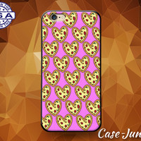 Pink Pizza Heart Pattern Pepperoni Tumblr Inspired Cute Custom Case iPhone 4 and 4s and iPhone 5 and 5s and 5c and iPhone 6 and 6 Plus +