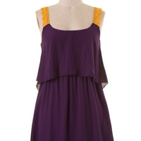 Halftime Show Purple & Gold Gameday Dress