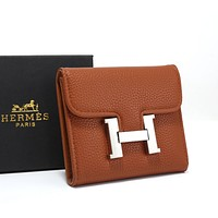 Hermes Hot Selling Classic Short Wallet Wallet Card Case Fashion Men's and Women's Wallets