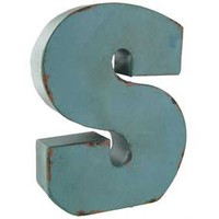 S Small Red, Blue or Brown Metal Letter | Hobby Lobby | 333385