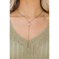 My Fancy Side Lariat Necklace (Gold)
